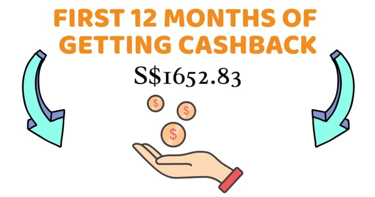 S$1652.83 – First 12 Months Of Getting Cashback